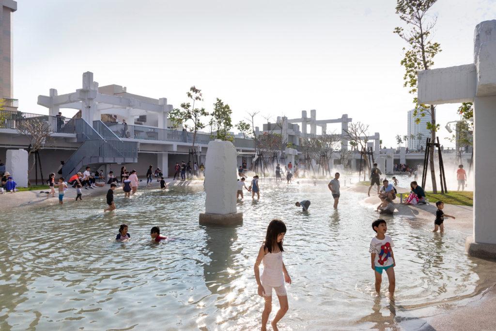 Tainan Spring transforms a former city-centre shopping mall into an urban lagoon