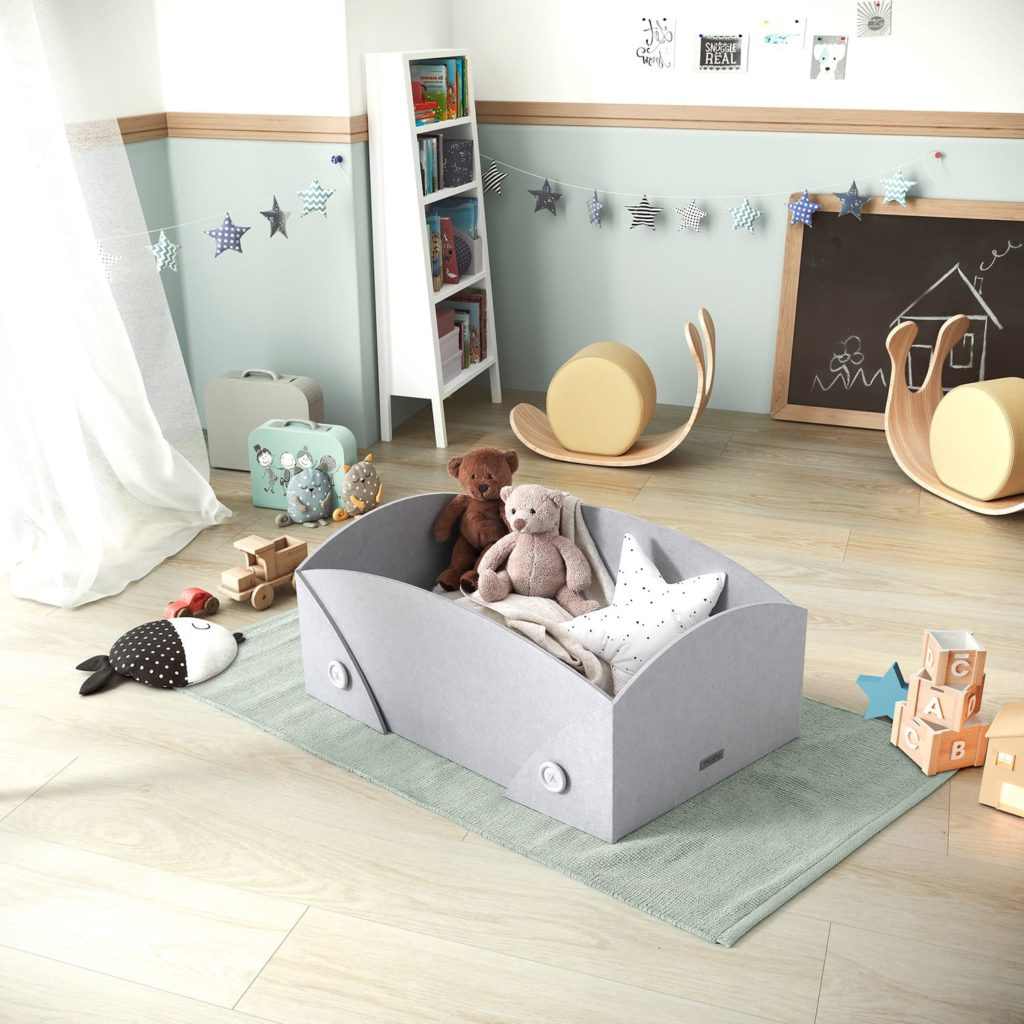 Cocoto, Ximo Roca Design mini-cradle that evolves with the baby