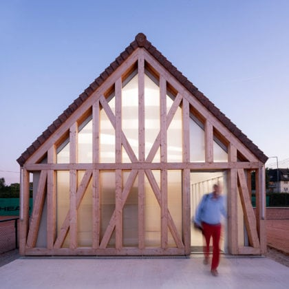 Garden Tennis Club of Cabourg by Lemoal Lemoal Architectes