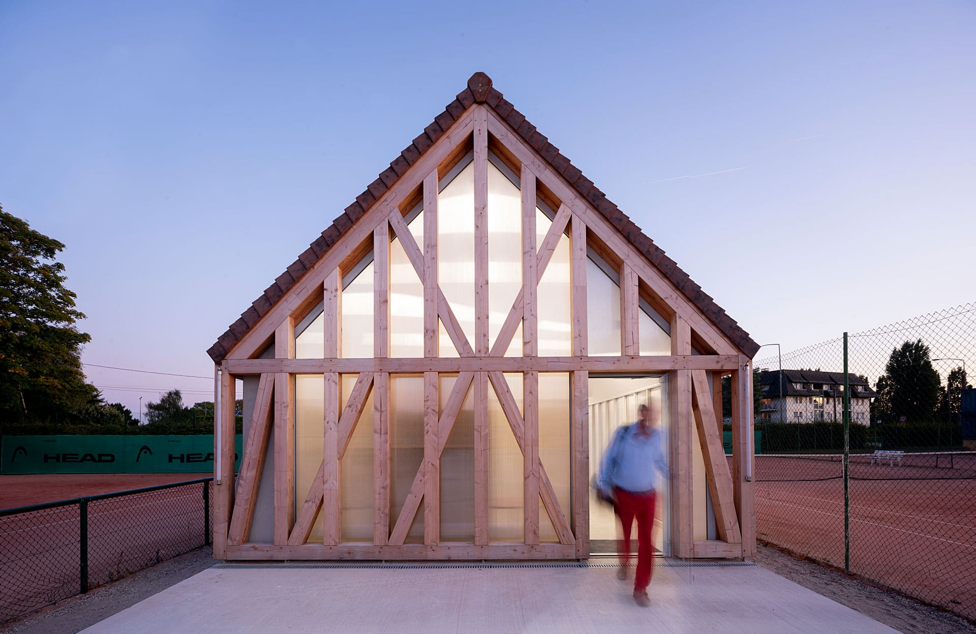 Garden Tennis Club of Cabourg by Lemoal Lemoal Architectes