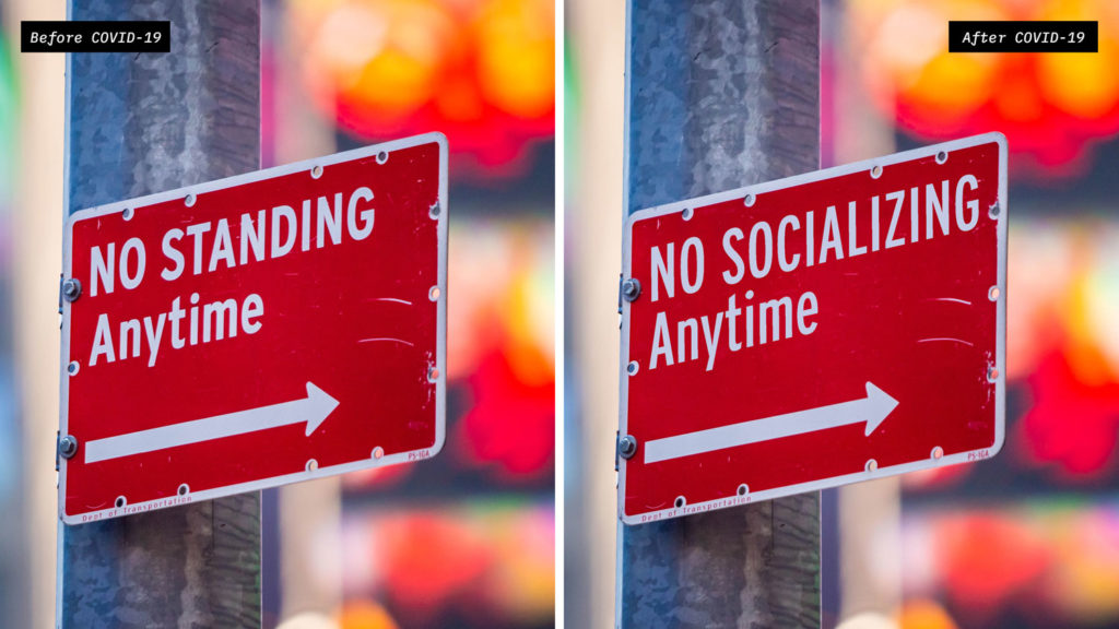 Street Signs For A Socially Distant Era