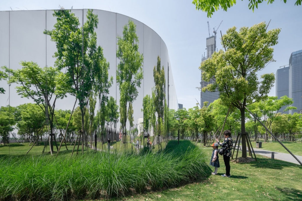 Reflecting Gallery in Urban Forest