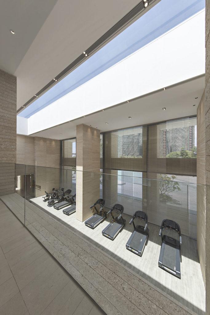 Corridor at yoga room area