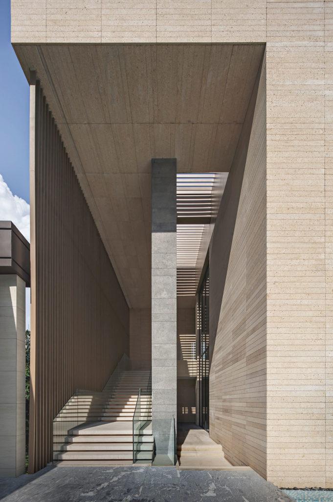Corridor to swimming pool