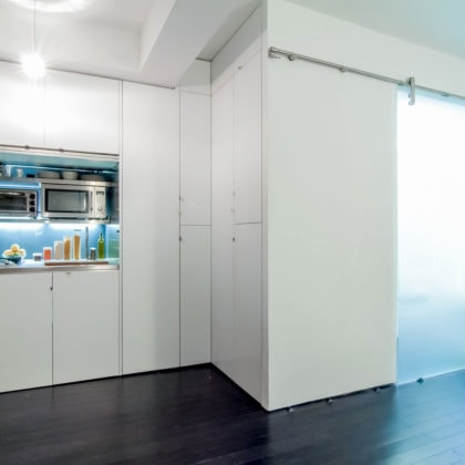 Park Avenue Mini Studio - a redesigned 220-square-foot space in New York City
