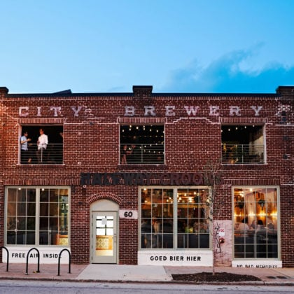 Halfway Crooks is a new craft brewery built in a century-old brick building