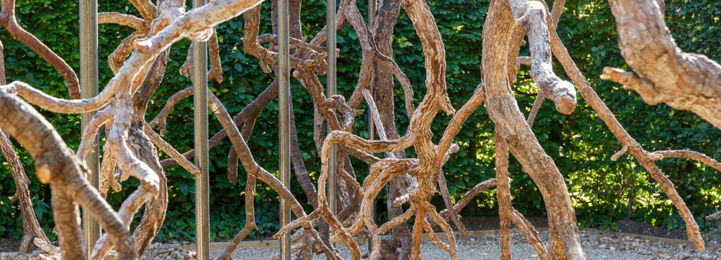 Paysage de Feu, Vazio S/A's installation made with trees from the Cerrado