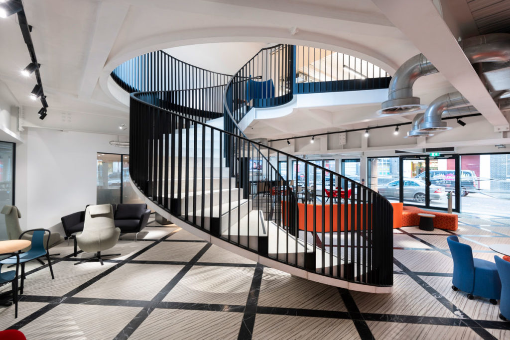 Reception View - us&co, London co-working office by Stamos Yeoh Architects