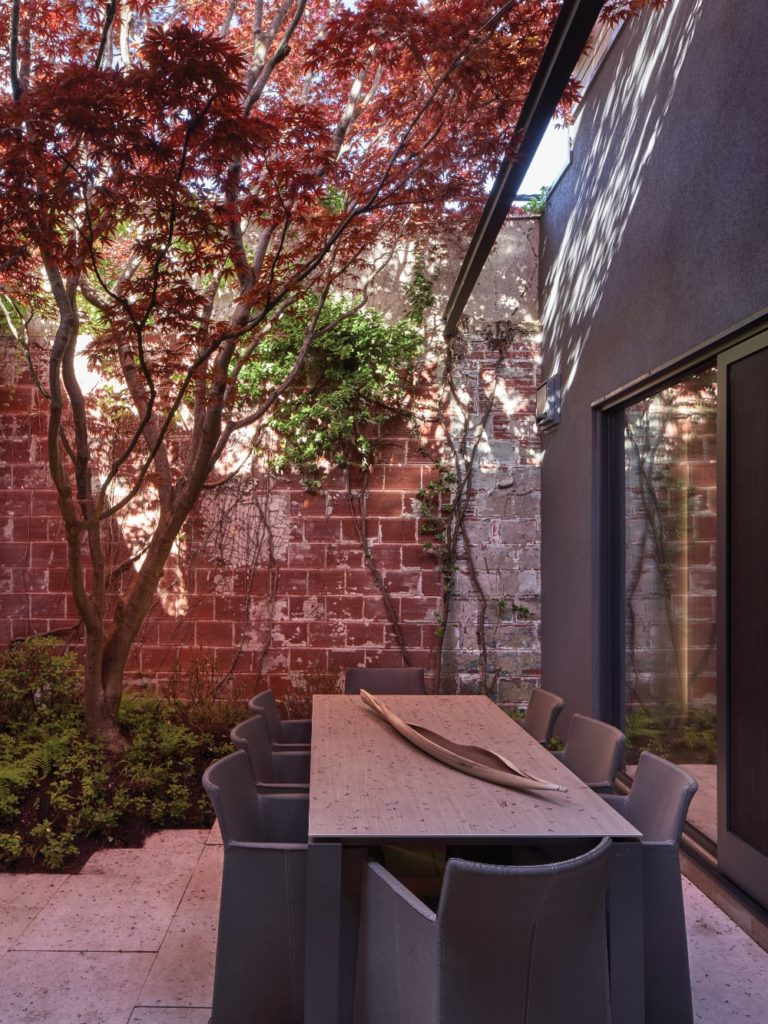 Ivy-clad landscaped courtyards