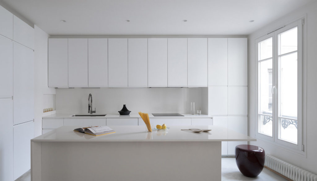 A view of the open plan kitchen