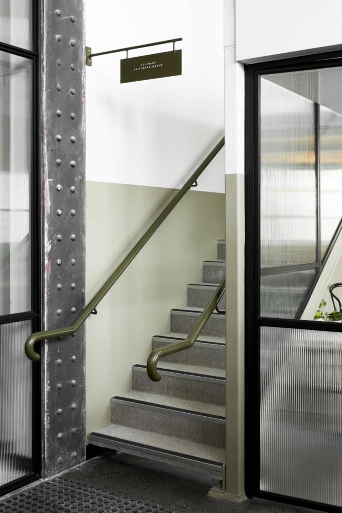 Stairs up to Mezzanine