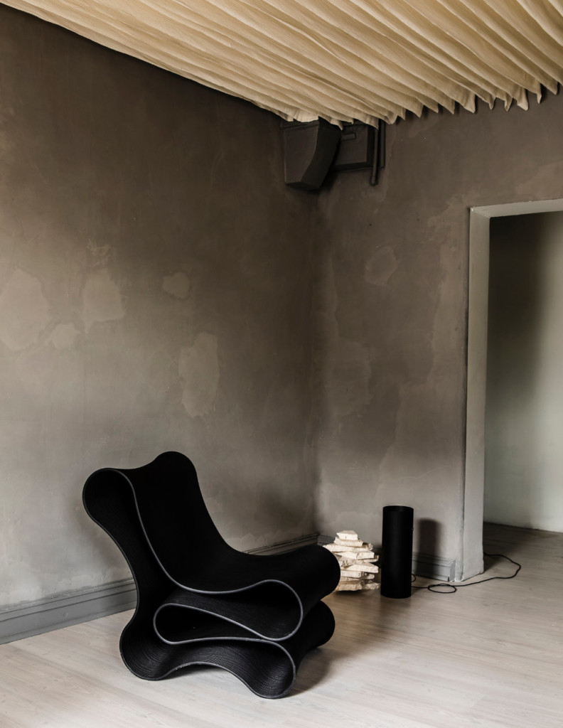 Reform Design Lab; New lounge chair, black