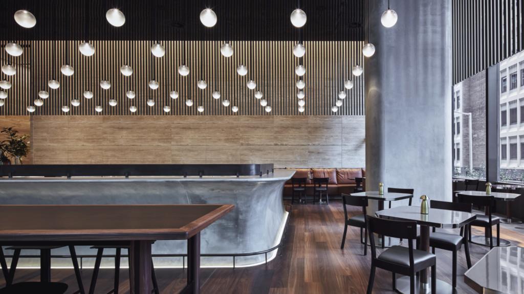 ADesignStudio's custom lighting installation for BarLume