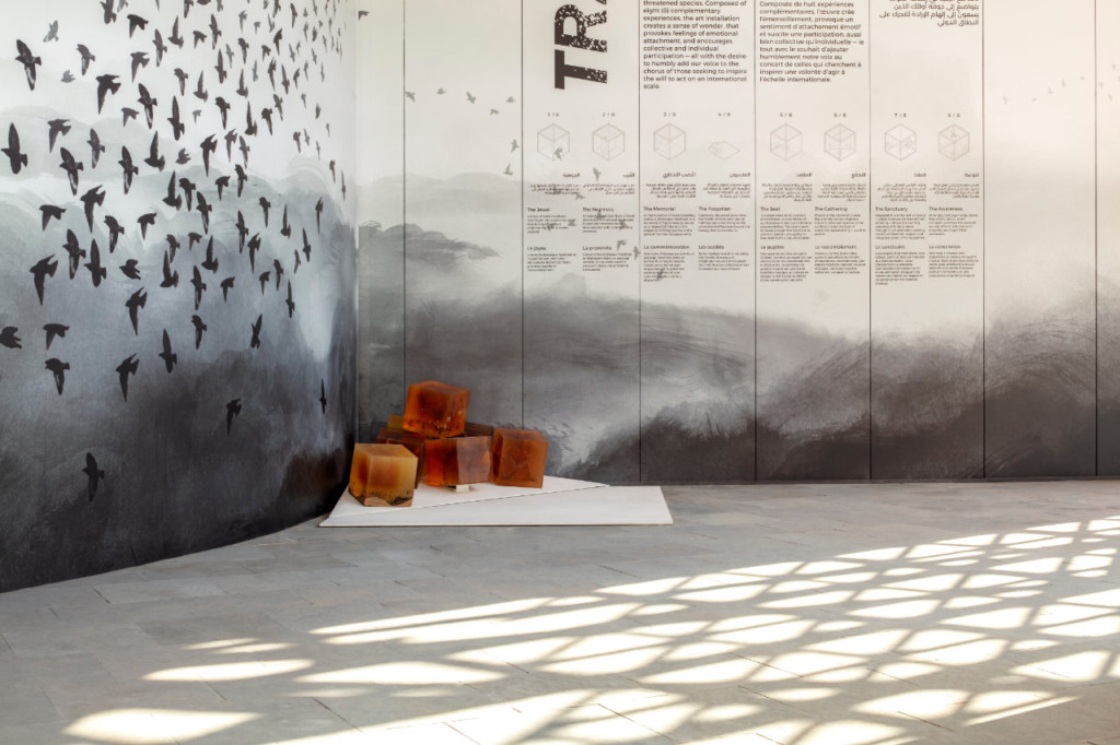TRACES art installation situated on the Canada Pavilion site at Expo 2020 Duba
